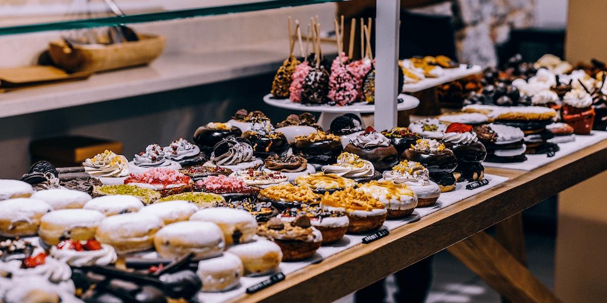 https://www.pexels.com/photo/donuts-and-bagel-display-205961/
